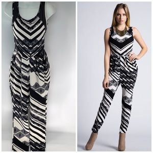 Black and White Jumpsuit Jumper Romper Small